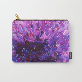 LOTUS BLOSSUM - Beautiful Purple Floral Abstract, Modern Decor in Eggplant Plum Lavender Lilac Carry-All Pouch