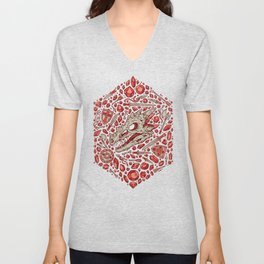 Hoard of the Gem Dragon | Ruby Unisex V-Neck