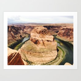 Horseshoe Bend Canyon Art Print Art Print