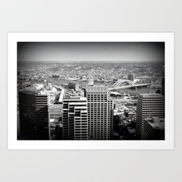 Cincinnati - Downtown #2 Art Print