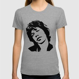 "CHRISTMAS GIFTS OF Sir Michael Philip ""Mick"" JaggerBlack White Face, Music, Art T-shirt"