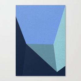 Blue Room & Shadows Canvas Print