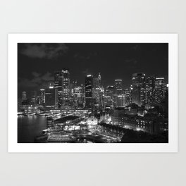 Sydney Skyline Art Print