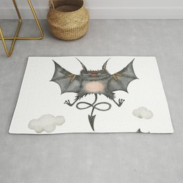 Flying little cute devil Rug