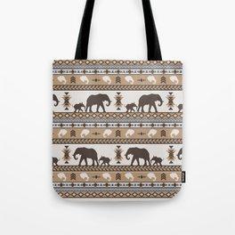 Boho animals | Elephants tan Tote Bag