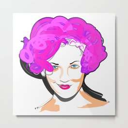 Drew Barrymore Metal Print