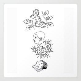 Science Fiction Character Illustration Art Print