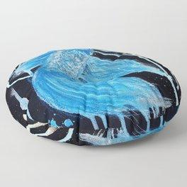 Blue Splatter Drip Betta Floor Pillow