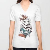 lost V-neck T-shirts featuring Lost by Norman Duenas