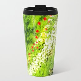 Red with white dots. Travel Mug