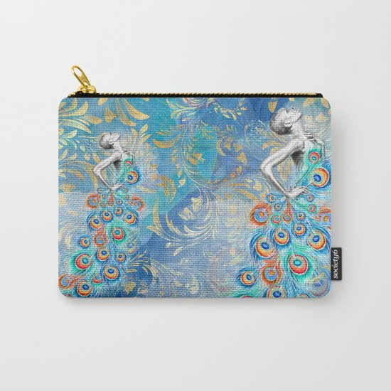 Feather peacock #17 Carry-All Pouch