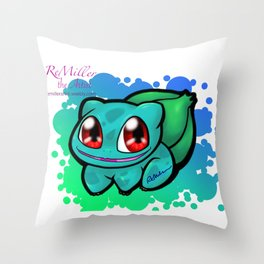 chibi bulba Throw Pillow