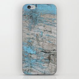 Peeled Blue Paint on Wood rustic decor iPhone Skin