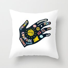 Positivity – Helping Hand Throw Pillow