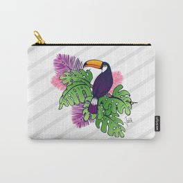Tropical Toucan Design Carry-All Pouch