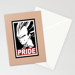 Vegeta pride Stationery Cards