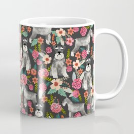 Schnauzer floral must have dog breed gifts for schnauzers owners florals Kaffeebecher