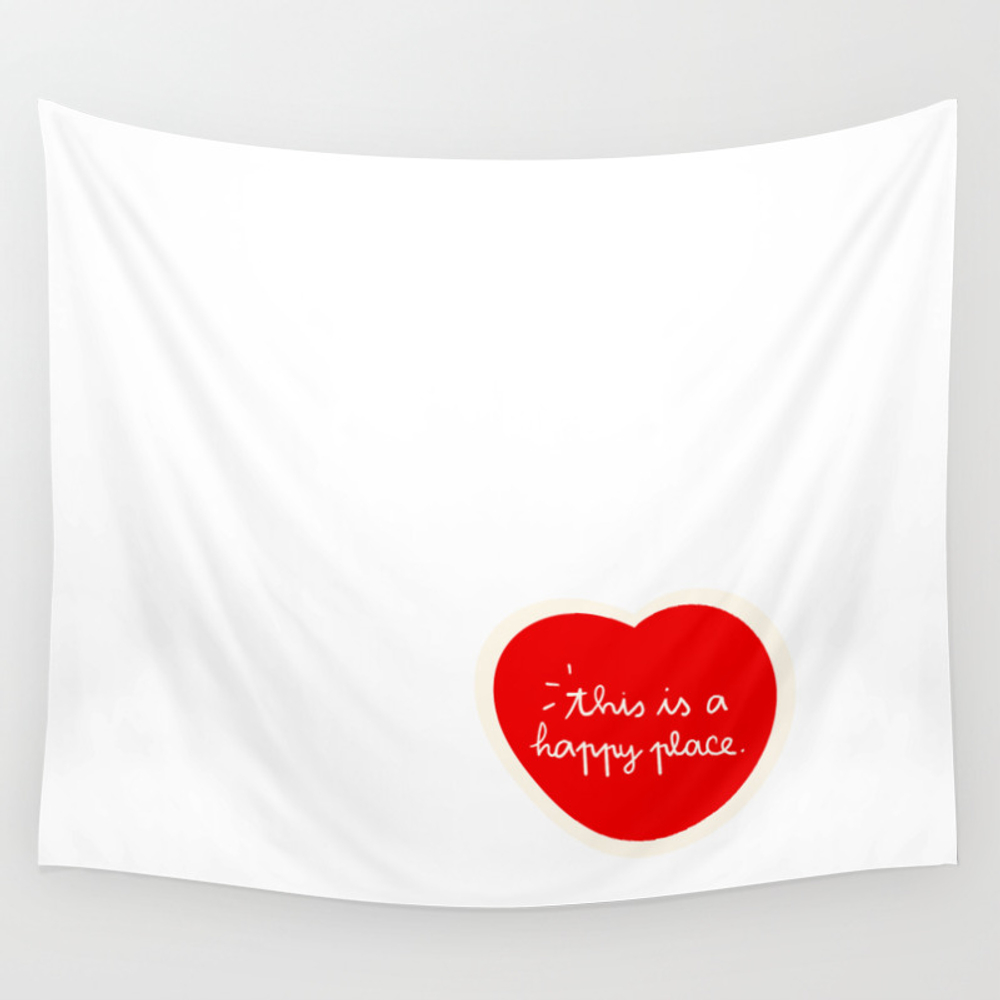 Happy Place Like Home Wall Tapestry by Mariamano TPS6176824