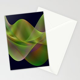 Rainbow reflection in a green wave Stationery Cards