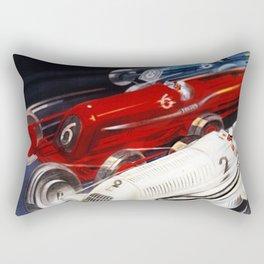 1934 12th Italian Grand Prix Grand Premio d'Italia Monza Plinio Codognato Vintage Poster Rectangular Pillow