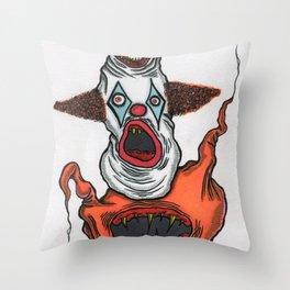 Mutant Clown Throw Pillow