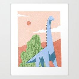 Brachiosaurus Art Print