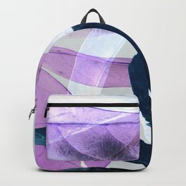Blue Violet Leaves Backpack