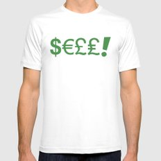 Subliminal Currency White Mens Fitted Tee MEDIUM