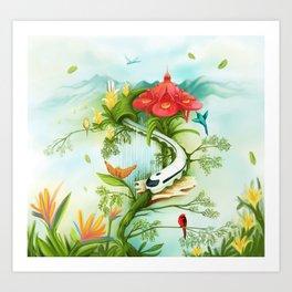 Medellin Flowers Art Print