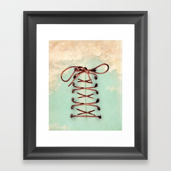 Lacing up the sky Framed Art Print