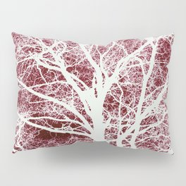 Red tree silhouette Pillow Sham