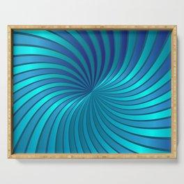 Blue Spiral Vortex G213 Serving Tray