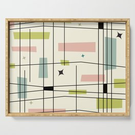 Mid Century Art Bauhaus Style Pastel Serving Tray