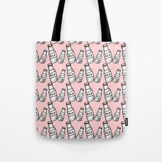 Milk bottle pastel pink Tote Bag