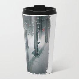 The Woods in Winter Travel Mug