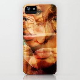 faces of Angelina Jolie3 iPhone Case
