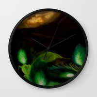 ohm Wall Clocks featuring OHM by Angelica Gonzalez Donaire