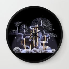 Oak tree by Roman Wall Clock