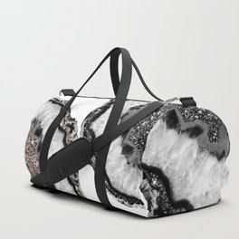 Yin Yang Agate Glitter Glam #1 #gem #decor #art #society6 Duffle Bag
