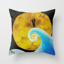 Simply Meant To Be - Nightmare Before Christmas Fan Art Throw Pillow