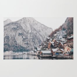 VILLAGE - COAST - MOUNTAINS - SNOW - PHOTOGRAPHY Rug