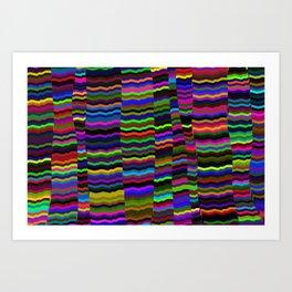 colourfull stripes Art Print