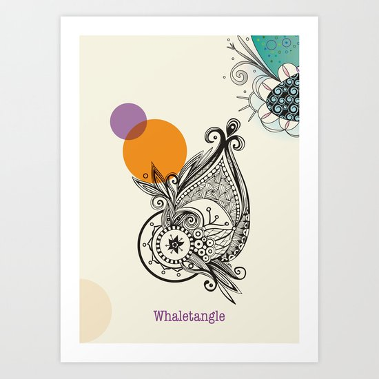 whaletangle Art Print