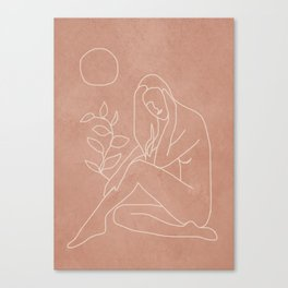 Engraved Nude Line I Canvas Print