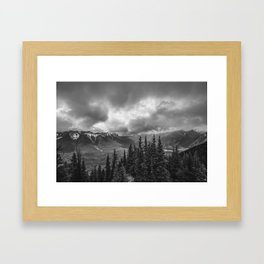 Banff Gondola Black and White Landscape | Photography Framed Art Print