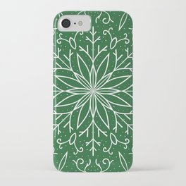 Single Snowflake - green iPhone Case