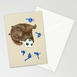 Blue wrens Wombat Football Stationery Cards