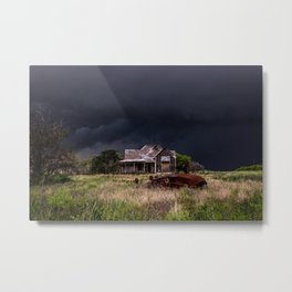 This Old House - Abandoned Home and Cotton Gin in Texas Metal Print