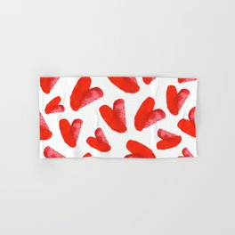 Red love Hand & Bath Towel