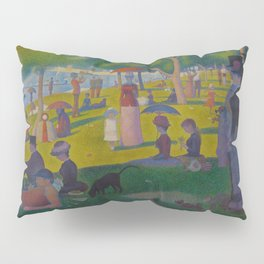 A Sunday Afternoon on the Island of La Grande Jatte Painting by Georges Seurat Pointillism Pillow Sham